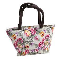 Vintage Women Girls Floral Canvas Shopping Handbag Shoulder Tote Shopper Bags CB