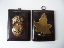World war 1 cap badge and brass  - Canadian? Royal Scots fusiliers - Trench art?