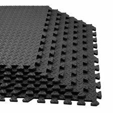 Floor Mat Protector Interlocking Puzzle Foam Gym Fitness Exercise Black 45pcs