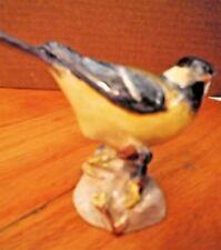 VINTAGE ROYAL WORCESTER GREAT TIT BIRD FIGURINE #3335 ENGLAND BONE CHINA