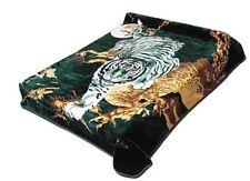 Original Solaron Korean Blanket throw thick Mink Plush Twin/Full Bengal Tiger