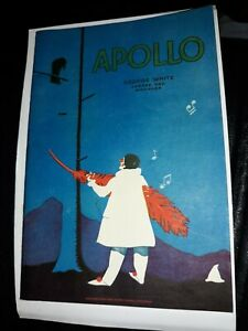 1930 New York Theater Program For The Apollo Theatre Rare VHTF Vintage Antique