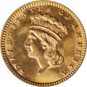 1889 G$1 MS64 PCGS Indian Princess Head Gold Dollar