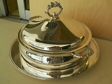 VNTG SILVERPLATED LEANORD COVERED DISH & REED &BARTON TRAY