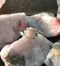 BEAUTIFUL VERY RARE TUGTUPITE TENEBRESCENT NATURAL CRYSTAL RING GREENLAND 6.5