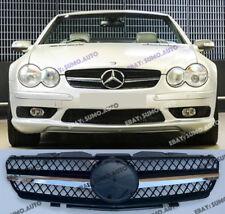 Mercedes SL R230,2001-06 grille,one fin,AMG SL55/SL65 look;SL350;SL600;SL500