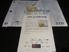 Stewart Cink Signed 2009 Presidents Cup Pin Flag Psa/Dna Harding Park Sf