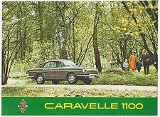 1963-65 RENAULT CARAVELLE 1100 catálogo catálogo original italiano