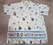50s Rare Barbecuer Novelty Shirt Size 16 L 16 1/2