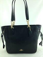 New Coach F72650 Leather Elle Chain Tote Handbag Shoulderbag Purse Black