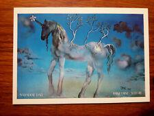 Salvador DALI UNICORNE ALLEGRE 1977 Unicorn carte postale art postcard