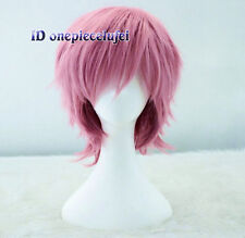 Adventure Time Prince Gumball Short pink Anime Cosplay Wig + free wig cap