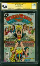 Wonder Woman 1 CGC SS 9.6 George Perez 1984 sequel Movie 1987 White Pages
