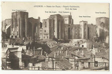 France - Avignon, Palais des Papes, Facade Occidentale - 1920's postcard