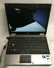 HP EliteBook 2540p Intel i7 Laptop For Parts Broken Screen NO HDD/RAM/Charger JR