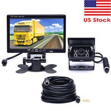 "RV Truck Bus Van Car IR Back Up Camera System Night Vision +7"" Rear View Monitor"