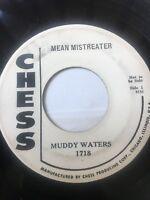 "Blues Promo 45/ Muddy Waters ""Mean Mistreater""    Clean  Hear"