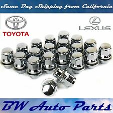 20 PCs TOYOTA-LEXUS OEM FACTORY CHROME MAG LUG NUTS WITH WASHERS 12X1.5MM