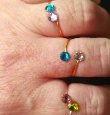 Custom Double Birthstone Ring Couple Ring Personalised rings BFF Birthday ring