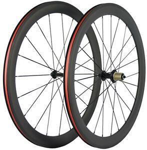 700C 50mm Carbon Wheelset 23mm Width Rim Brake Carbon Bike Wheels 3K Matt Basalt