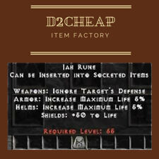 Jah Rune - Diablo 2 Europe / East / West Ladder & NON High Rune HR