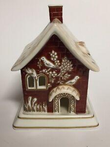 Red House by Coalport Cottage Pastille Burner Fine Bone China of England 5""