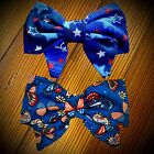Handmade girls hair bow Featuring Patriotic Red White & Blue Designs