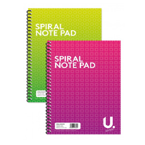A4 Spiral Note Pad 20 x 28CM Wire Bond Note Pad Lined 80 Pages Notebook(P2531)
