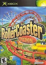 RollerCoaster Tycoon (Microsoft Xbox, 2003) *COMPLETE* Roller Coaster