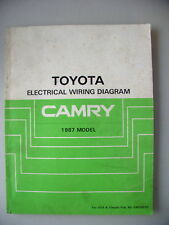 Toyota Electrical Wiring Diagram Camry 1987 Model