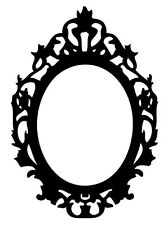 """VICTORIAN FRAME Vinyl Wall Art Decal Lettering Design Words 21"""" X 30"""""""