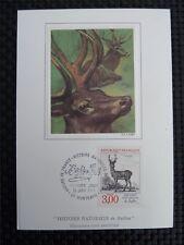 FRANCE MK HIRSCH DEER ANIMALS MAXIMUMKARTE CARTE MAXIMUM CARD MC CM c1096