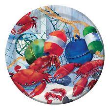 Seafood Celebration 7in Paper Plates Crab Boil Shrimp Lobster Clam Bake-8 Count
