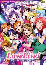 DVD Japan Anime Love Live! The School Idol Movie Complete Set, English Subtitle