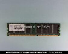 Nanya NT256D64S88B1G-5T DDR 256MB PC-3200 Non ECC 400Mhz RAM Memory