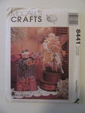 """McCall's Crafts Sewing Pattern #8441 Country Angel Dolls 16"""" Harvest Home Decor"""
