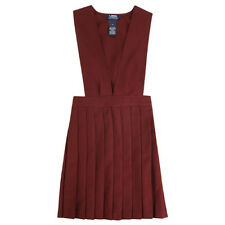 Girls Burgundy Jumper V-Neck Pleated French Toast School Uniform Sizes 4 to 20