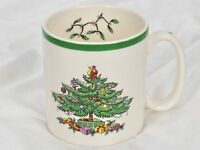"SPODE Christmas Tree Coffee Mug - MADE in ENGLAND - S3324 A2 - 3 1/4"" Tall"