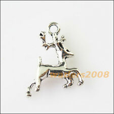 8 New Running Animal Deer Tibetan Silver Tone Charms Pendants 12x22.5mm