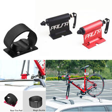 Car SUV Roof Mount Bike Luggage Rack Carrier Quick-release Fork Lock Black Alloy