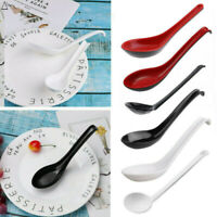 5/6/10Pcs Ramen Noodle Soup Spoons with Long Handle Hook for Kitchen Cooking
