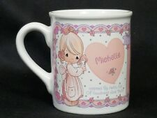 Precious Moments Ceramic Collectible Name Acronym Coffee Cup Mug Michelle 1994