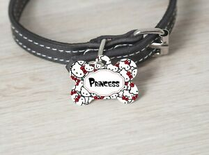 Pet ID Tag Hello Kitty Personalized Custom Double Sided Pet Tag name & number