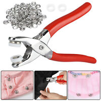 100pcs Prong Pliers Ring Press Studs Snap Popper Fasteners Sewing DIY Tool Kit