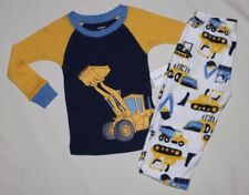 NEW~CARTERS TODDLER BOY 2 PIECE YELLOW CONSTRUCTION WINTER PAJAMAS SIZE 18 MONTH