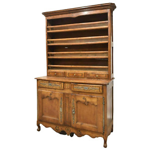 Antique Display Cupboard, Vaisselier, French Louis XV Style Fruitwood, 1800's!!