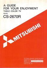 Vintage Original Mitsubishi Model CS-2670R Table Color TV Owners Manual