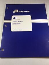 Fiat Allis 31 Crawler Tractor Undercarriage Service Manual