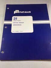 Fiat Allis 31 Crawler Tractor Undercarriage Service Manual
