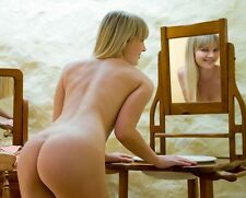 Nude Art Picture Photo of Stunning Naked Blonde Female Model Photograph Photo